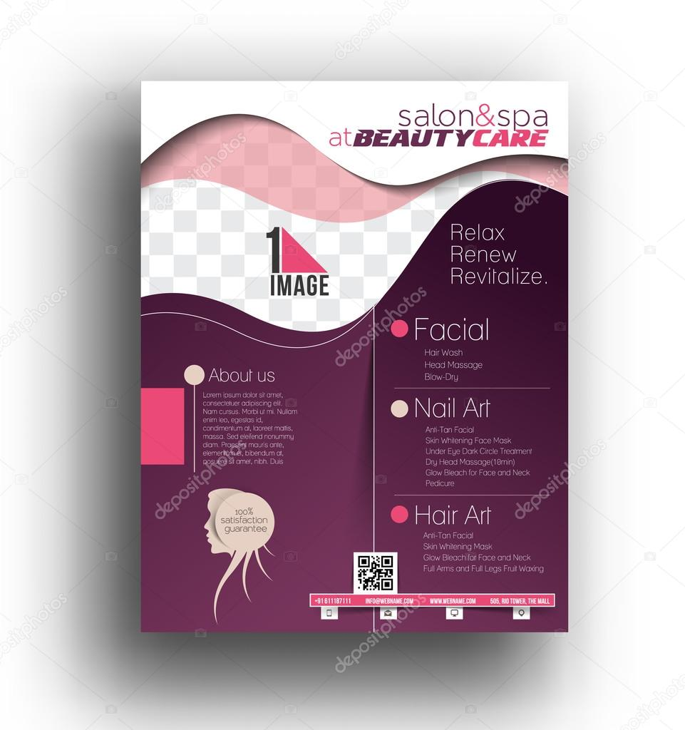 Beauty Care U0026 Salon Flyer Template U2014 Vector By Redshinestudio