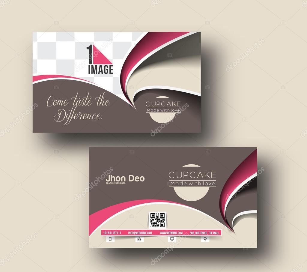 Cupcake business card stock vector redshinestudio 67683075 cupcake business card vector template vector by redshinestudio magicingreecefo Images