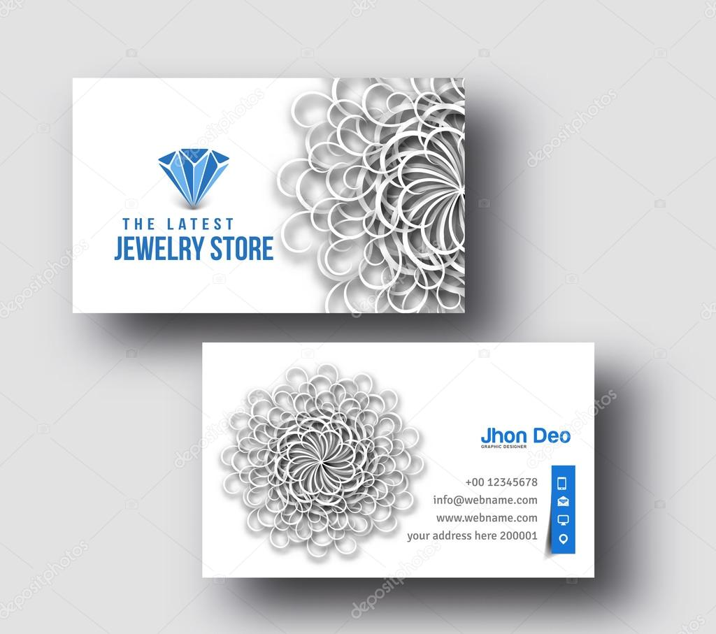 Jewellery shop business card stock vector redshinestudio 72316187 jewellery shop business card stock vector reheart Gallery