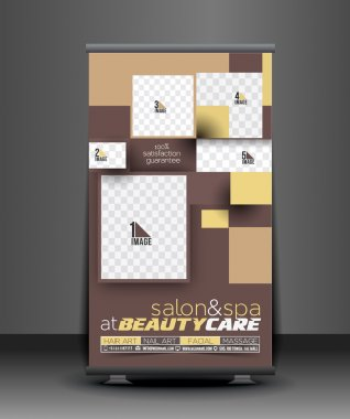 Beauty Care Salon Roll Up Banner