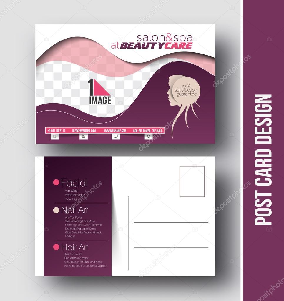 Salon Kosmetyczny Pocztówka Projekt Grafika Wektorowa