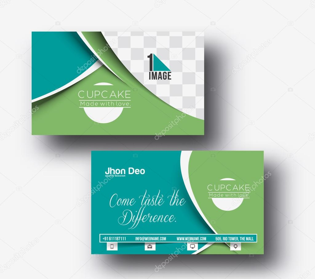 Cup cake shop business card stock vector redshinestudio 73314341 cup cake shop business card set template vector by redshinestudio reheart Images