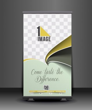 Cup Cake Roll Up Banner