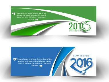 New year 2016 website banner