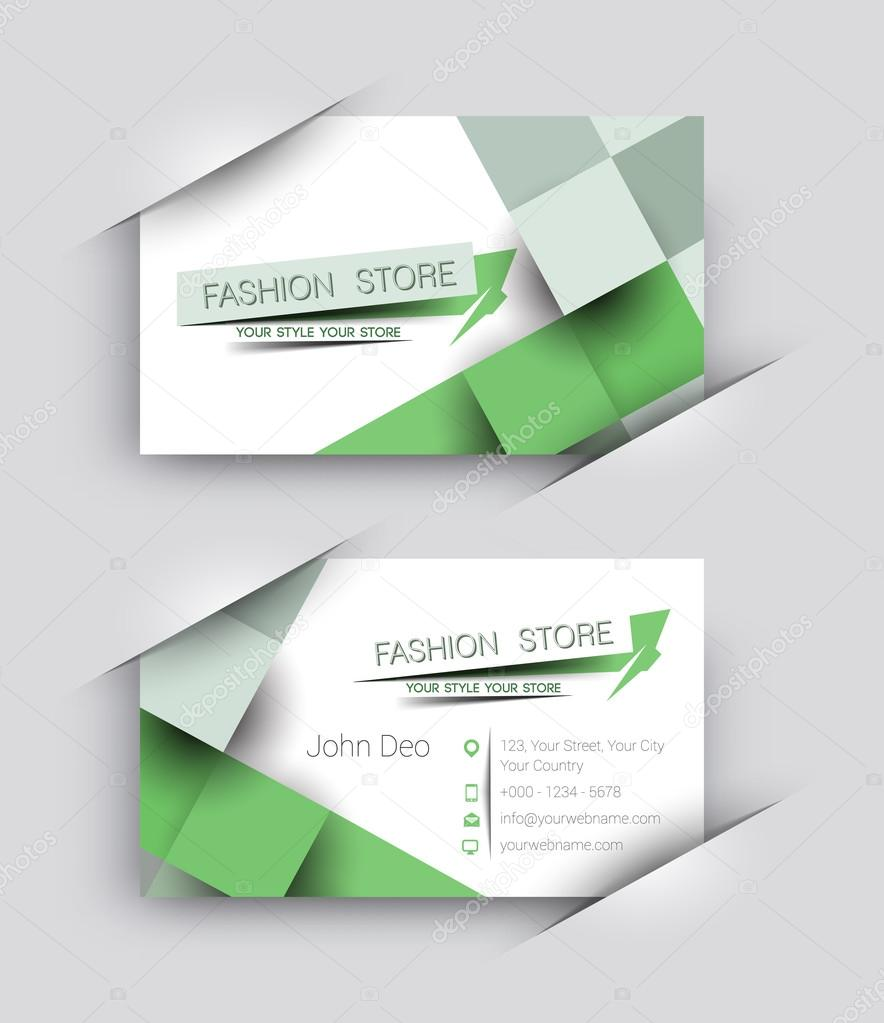 Clothing Store Business Card Fashion Store Business Card Vector Set Stock Vector C Redshinestudio 96739638