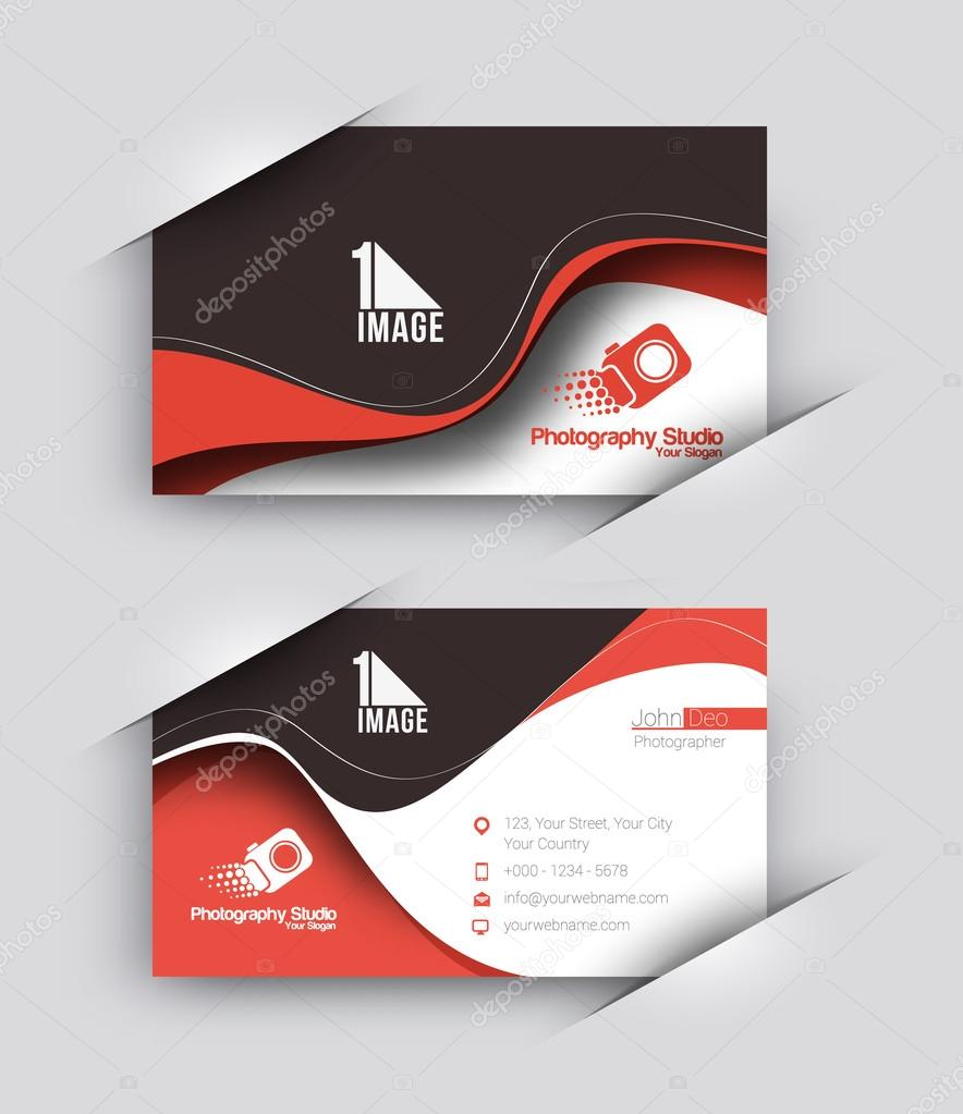 Photography studio business card set stock vector redshinestudio photography studio business card vector template vector by redshinestudio reheart Image collections