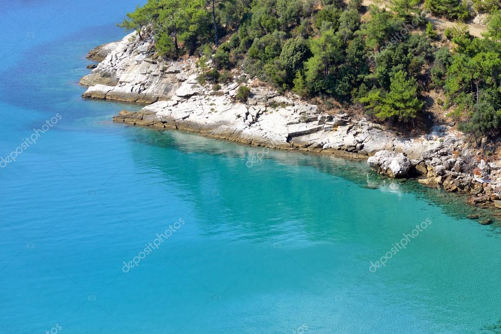 versteckter Strand Griechenland
