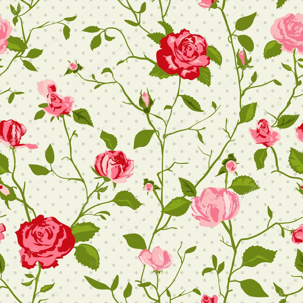 Shabby chic rose background
