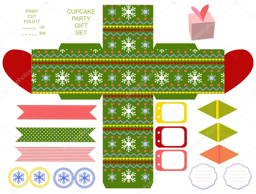 Christmas Gift Box Template.Christmas Gift Box Template Stock Vector C Yaskii 58357669