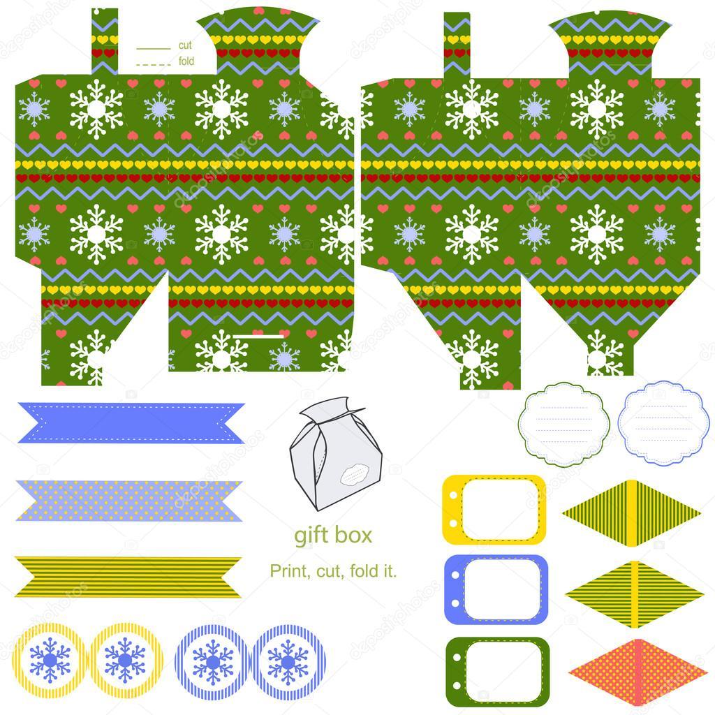 Christmas Gift Box Template Stock Vector C Yaskii 58357925