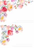 Akvarell rózsák mintanyomtatvány