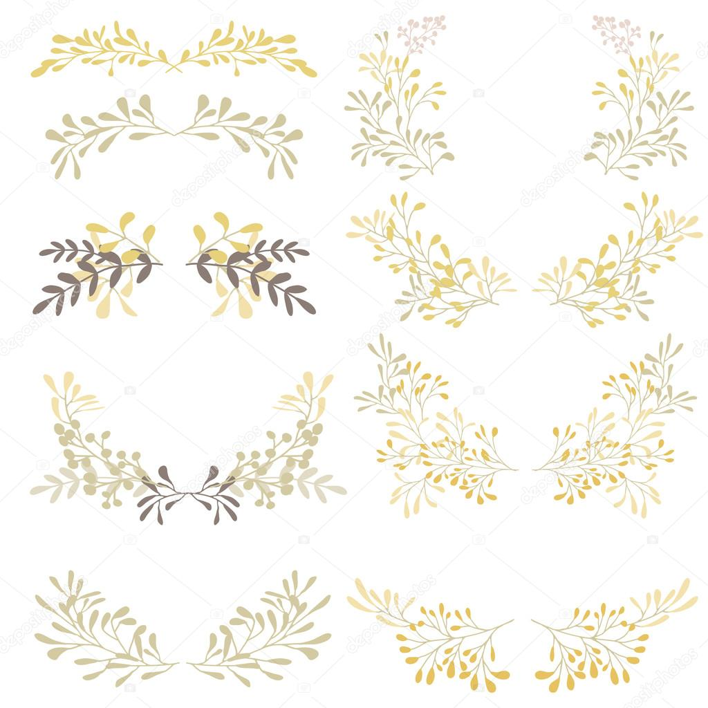 Wreath logo collection