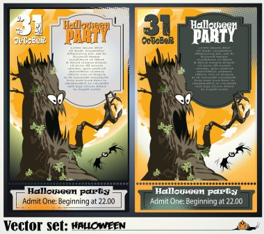 Vector Invitation to a party in honor of a holiday Halloween