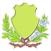 Fotografie Vector sketch - Coats of arms, shields and laurel wreaths