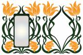 Vektorové abstraktní rámec z vázaného rostliny a květiny