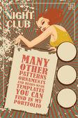 Fotografie Vector template flyer advertising a nightclub, shows, parties