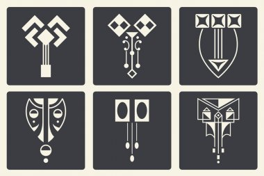 Vector abstract ornaments for design of printed and web products