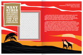 Fotografie vector template booklet on the topic of the African safari