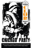 Fotografie Vector BW Illustration. Template flyers. Sin City party. A man w
