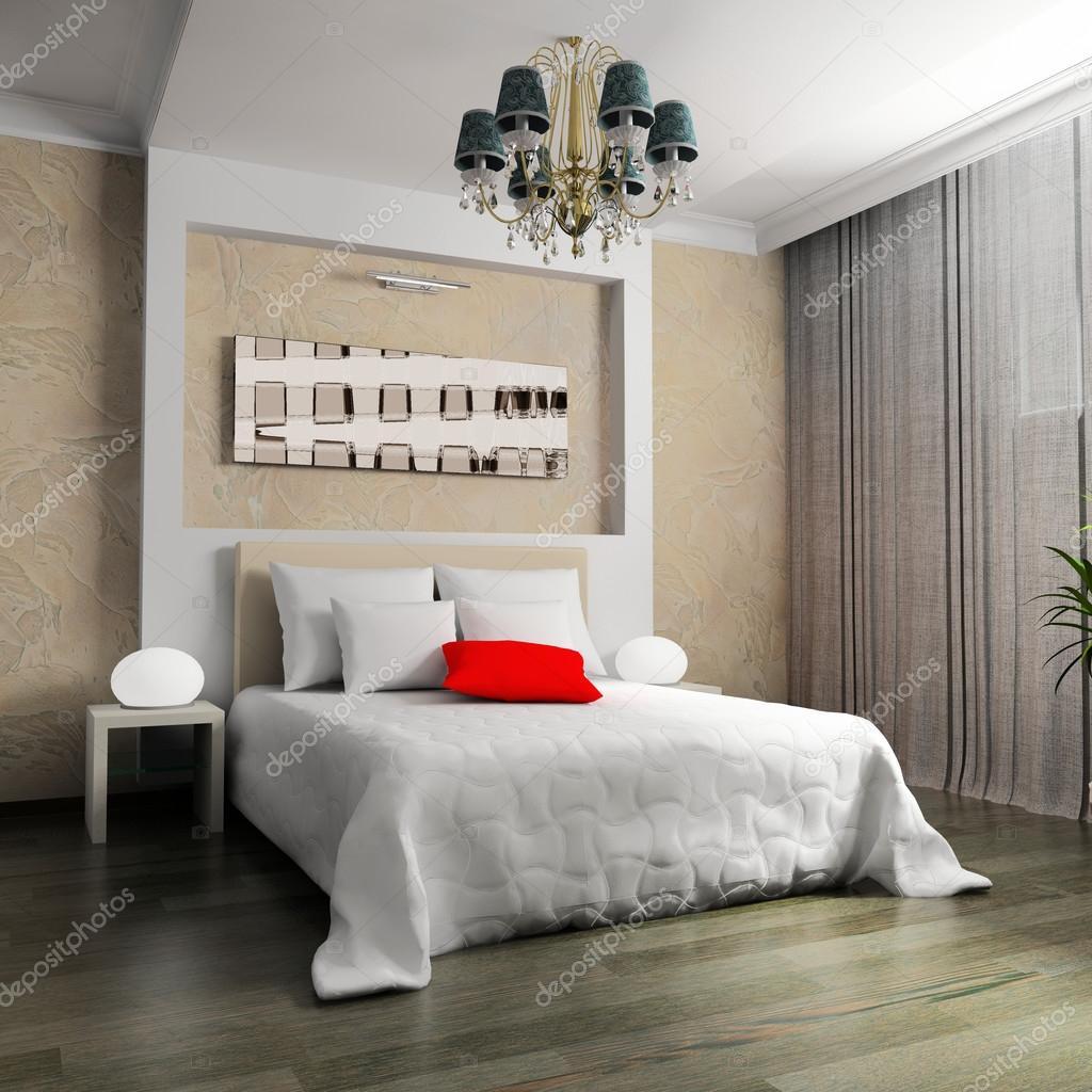 Camera da letto in stile contemporaneo — Foto Stock © kash76 #91612994