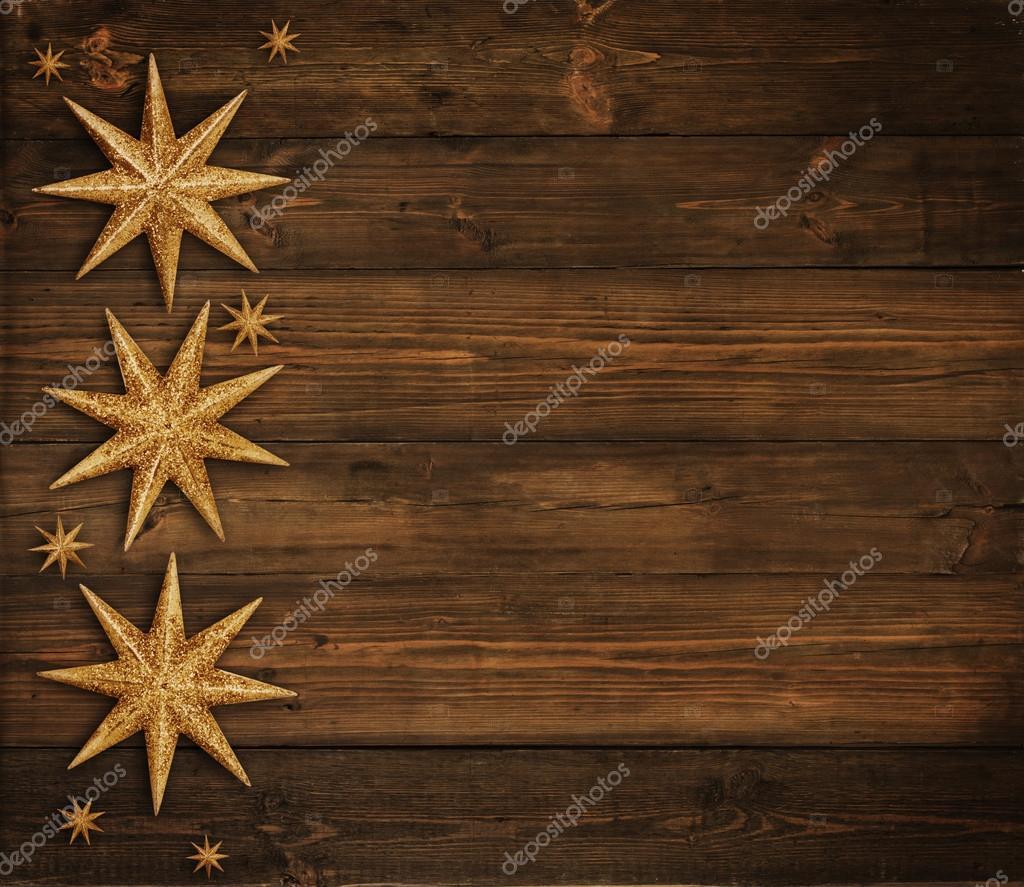 weihnachten holz hintergrund golden stars dekoration braun holz brett weihnachtsfeiertags. Black Bedroom Furniture Sets. Home Design Ideas