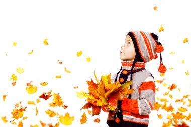Kid Autumn Fashion, Child Boy Knitted Hat Woolen Jacket Clothing