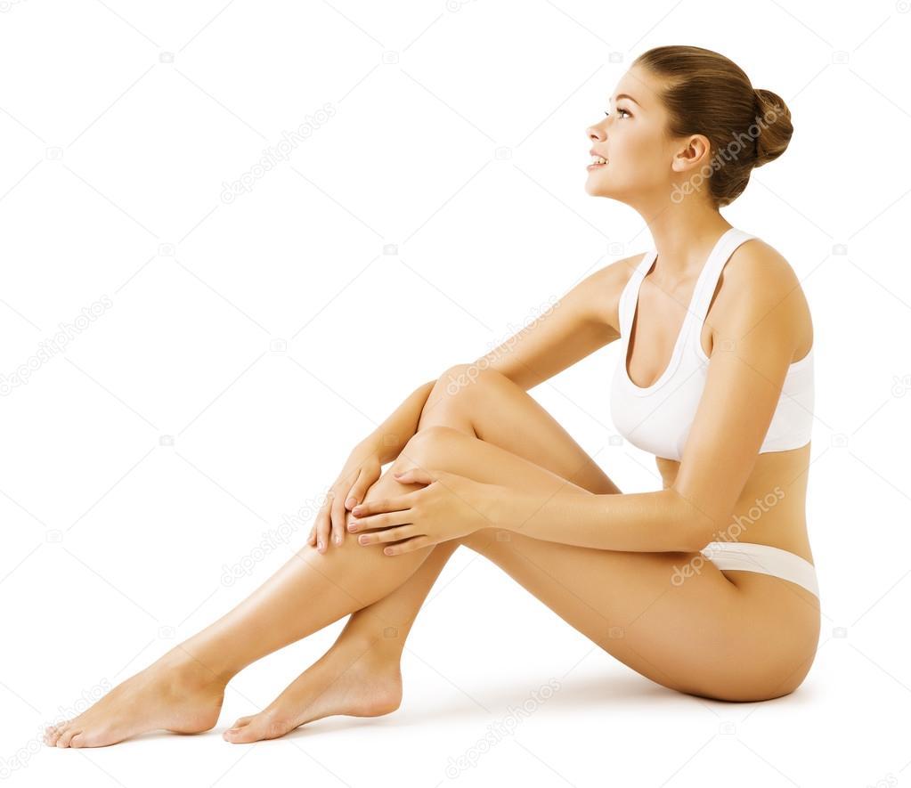 Belleza de cuerpo de mujer chica modelo en ropa interior blanca foto de stock inarik 98635774 - Fotografias de mujeres en ropa interior ...