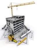 Fényképek épület építése