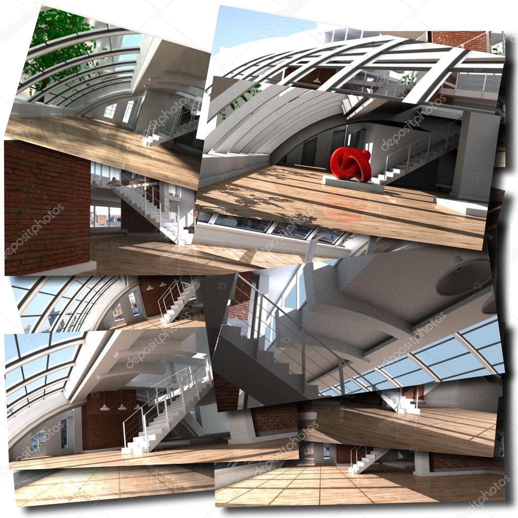 현대 건축 콜라주 — 스톡 사진 © franckito #65899793