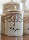 Fotografie Antique thyme jar