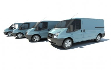 Van fleet in blue grey