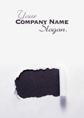 Torn paper black