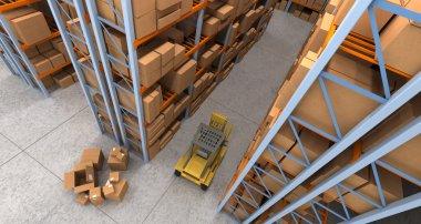Warehouse scenes aerial