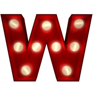 Glowing W