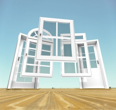 Doors and windows choice, landscape