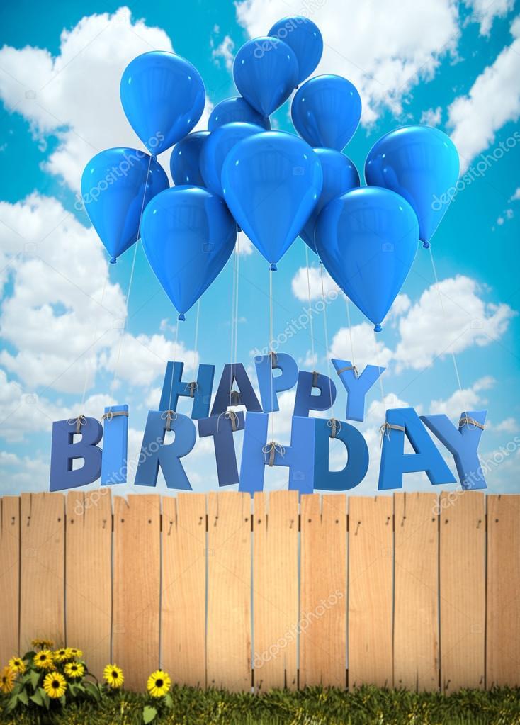 Открытка февраля, с днем рождения синяя открытка