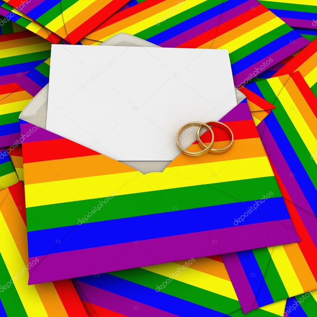 Gay Hochzeitseinladung U2014 Stockfoto
