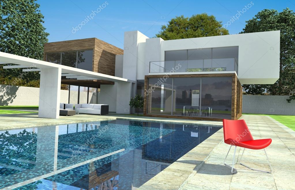 Extérieur de maison moderne de luxe — Photographie franckito © #65903515