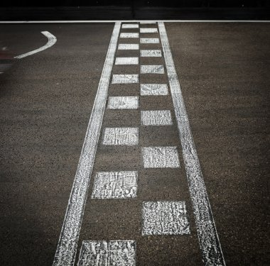 Car race, finish line