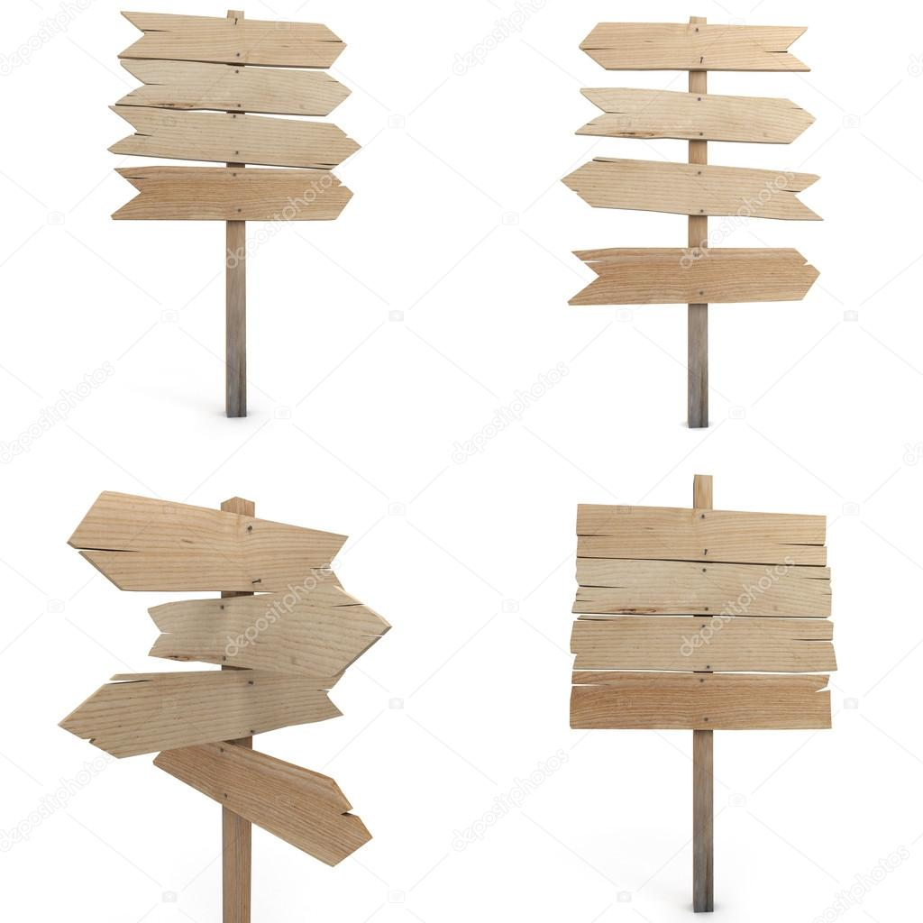 Wooden sign collection
