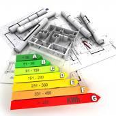 Energieeffizientes bewertet und nachhaltiges Bauen