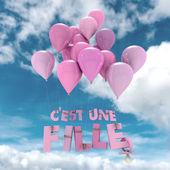 Francia baba lány Születés bejelentése ég