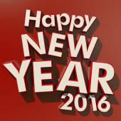 Šťastný nový rok 2016 červené pozadí