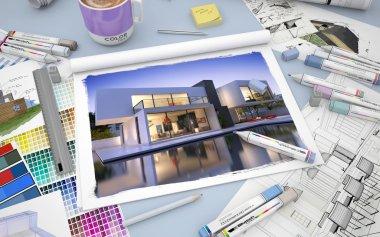 Villa decor drawing