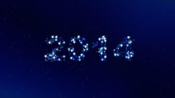 Nový rok 2014 pozadí animace