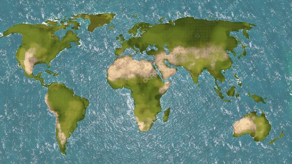 World map 3d stock photo regissercom 62034251 world map 3d shaded relief colored according to vegetation photo by regissercom gumiabroncs Gallery