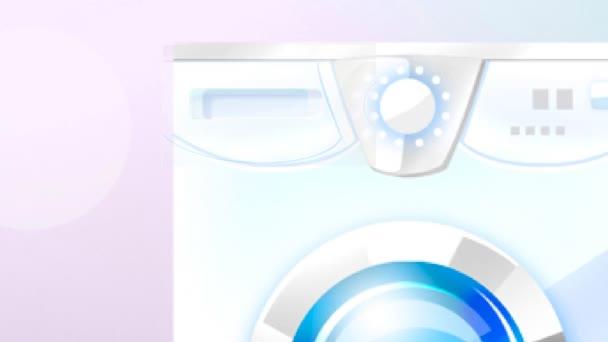 Animace procesu praní