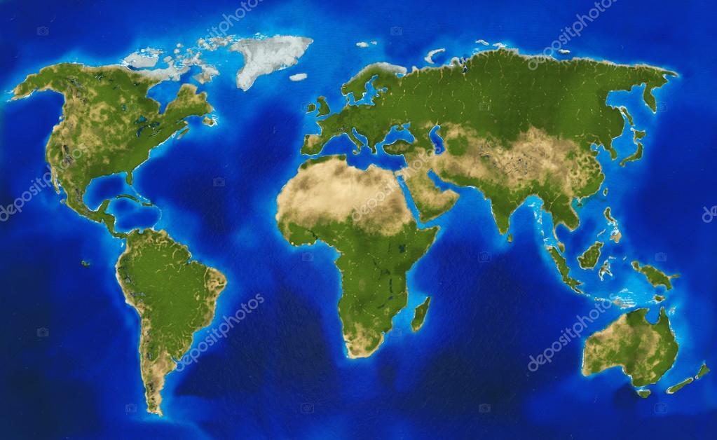 Physical world map stock photo regissercom 63366447 big size physical world map illustration photo by regissercom gumiabroncs Images