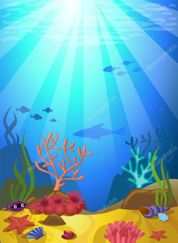 Seabed with corals