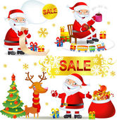 Set Christmas SALE with Santa Claus